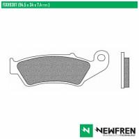 NEWFREN FD0193BT - накладки тормозные