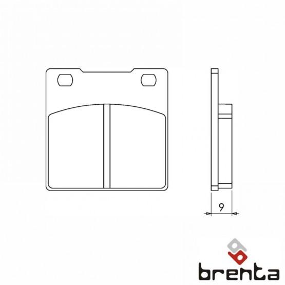 BRENTA FT3052 - накладки тормозные