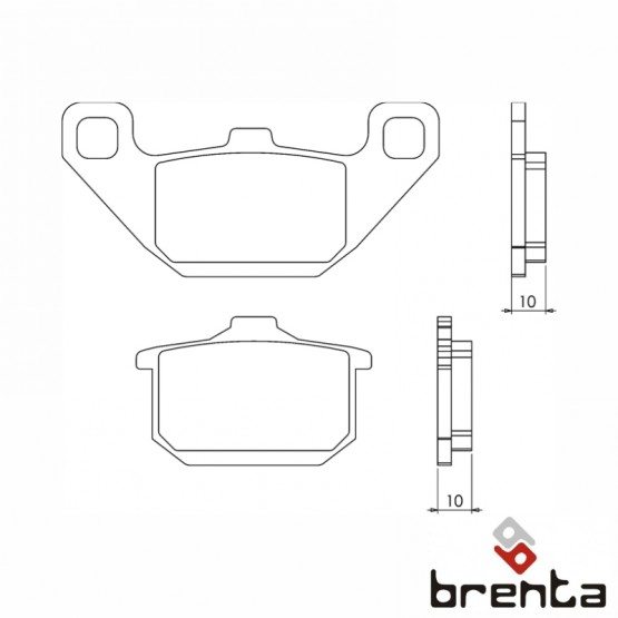 BRENTA FT3061 - накладки тормозные