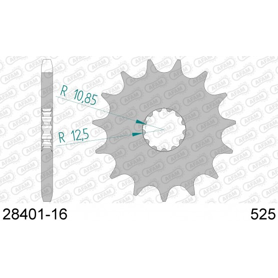 AFAM 28401-16 - звезда передняя (JTF520.16)