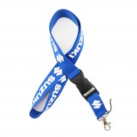 Шнурок для ключей SUZUKI, текстиль, син./бел.