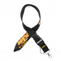Шнурок для ключей KTM, текстиль, черн./оранж.