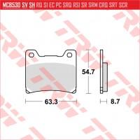 TRW/LUCAS MCB530 - накладки тормозные